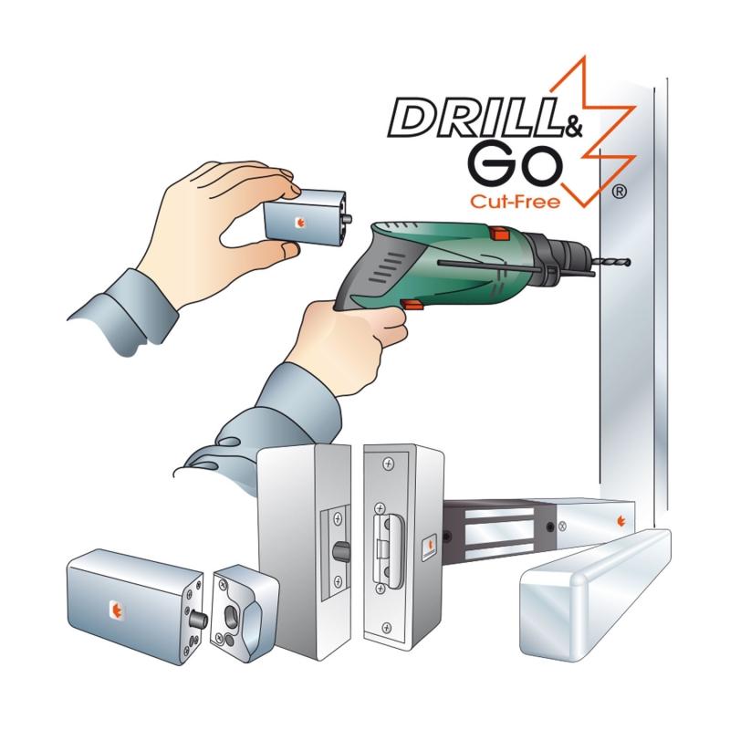 6 Drill & Go electrical locks