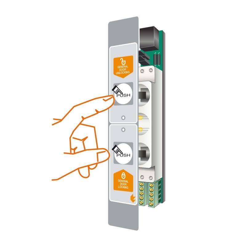 4 SLIM-DUALPUSH push-button panels