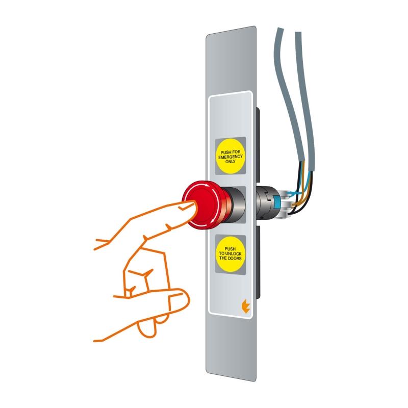 5 SLIM-HELPYPUSH push-button panels