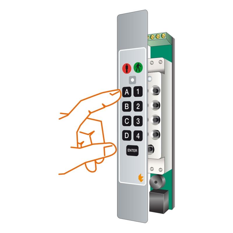 1 SLIM-CODEGUARD keypads