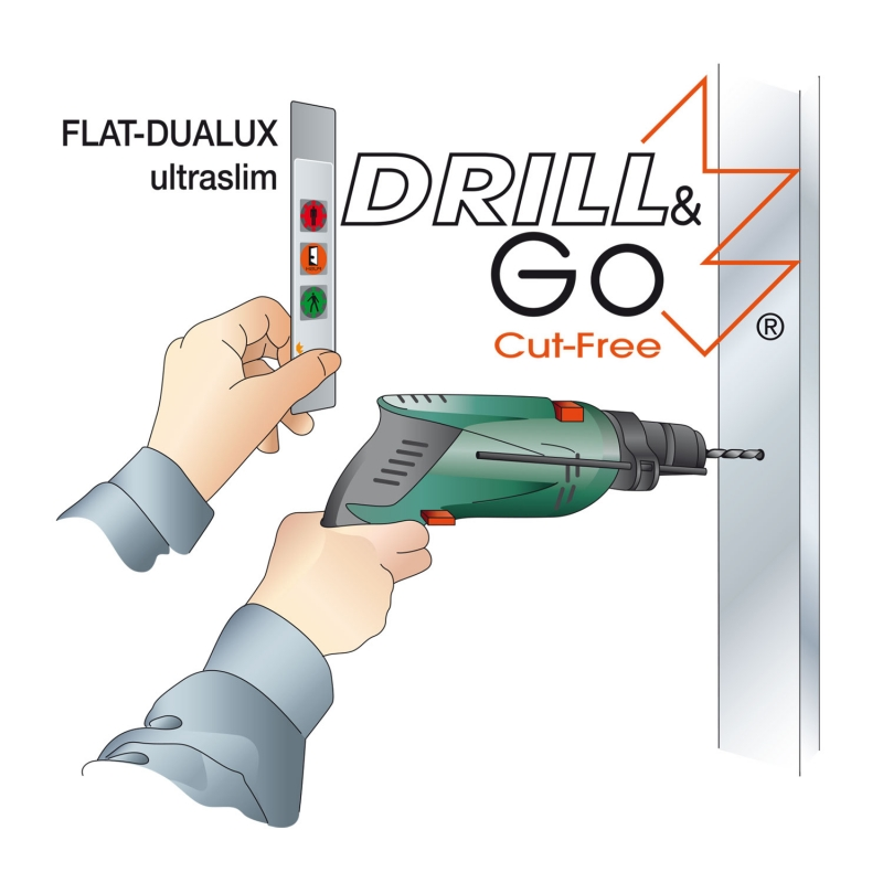 7 FLAT-DUALUX stop/go display ultraslim